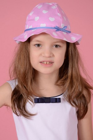 GIRL'S PINK PRINTED HAT - STYLE 0303