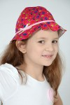 GIRL'S RED MUSHROOMS PRINTED HAT - STYLE 0329
