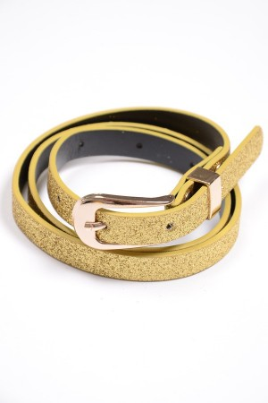 Girl's golden belt with glitter, style 0614