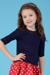 Girl's navy jersey top, style 0126