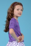 Girl's purple jersey top, style 0127