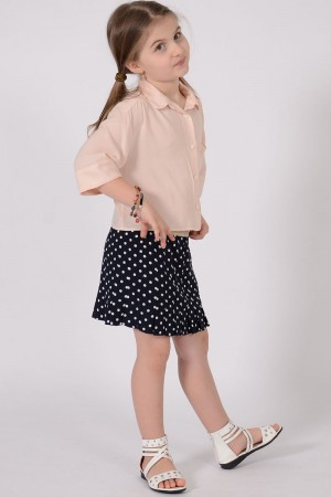 GIRL'S NAVY PLEATED SKIRT STYLE 2032