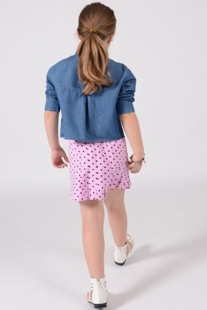 GIRL'S PINK PLEATED SKIRT STYLE 2033