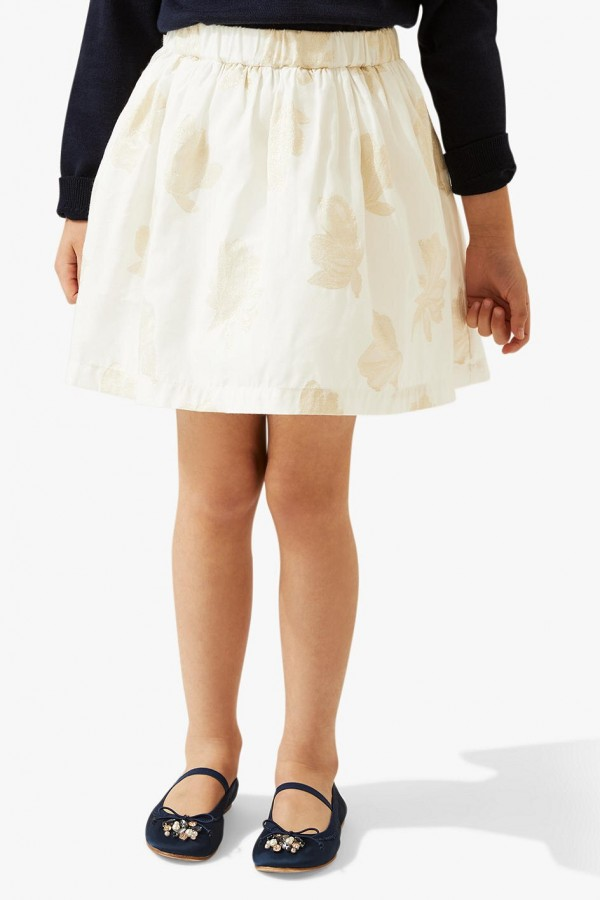 Jacquard Floral Gold Skirt, style 2036