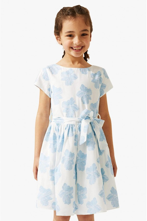 Girls' Jacquard Floral Occasion Dress, style 1531