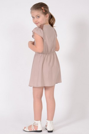TEST - GIRL'S BEIGE VISCOSE DRESS STYLE