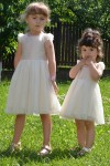 Girls Nude occasion dress, style 1533
