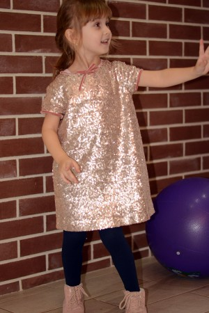 Girl's sequin embroidery dress, style 1536