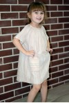 Girl's Ivory pockets dress, style 1537